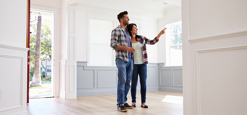 Couple house searching