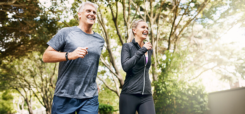 exercising active lifestyle jogging