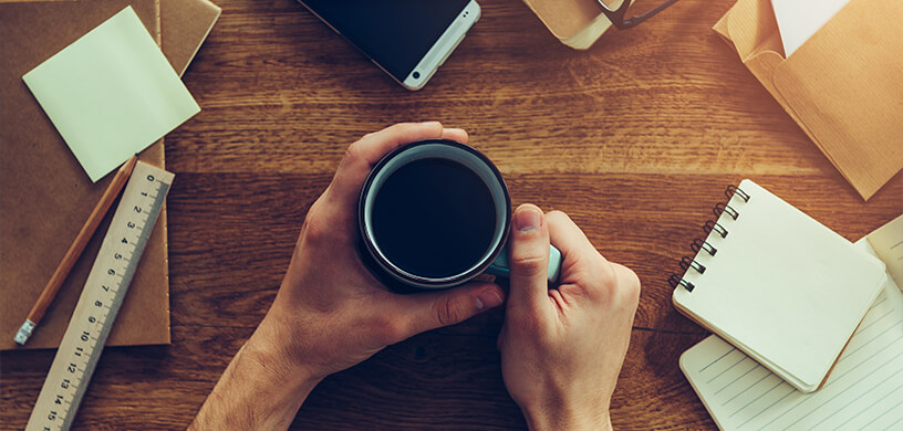 Take a coffee break from your work to re-inspire creativity
