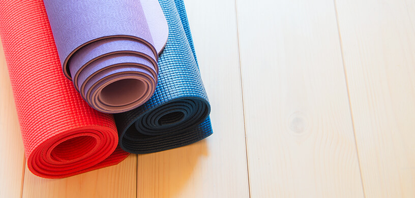 different yoga mats
