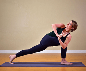 Revolved Prayer Lunge Yoga Pose